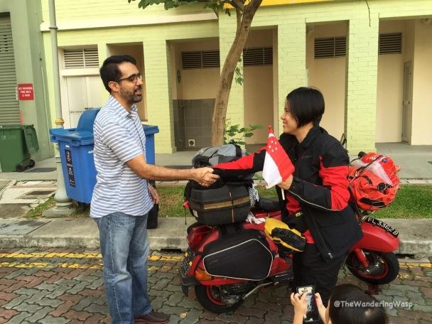 Singapore, Sent off by MP Pritam Singh.jpg