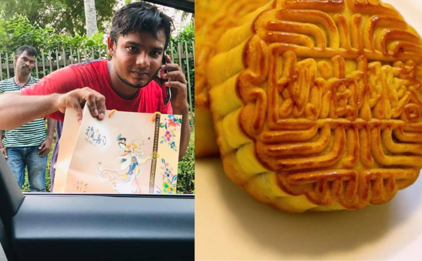 Gift a smile, share a mooncake with a migrant worker today!